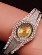W001 Rose Gold Bangle Watch